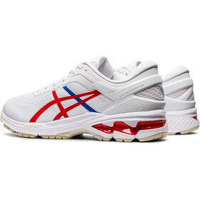 asics Gel-Kayano 26 Retro Tokyo Chaussures Homme, white/classic red
